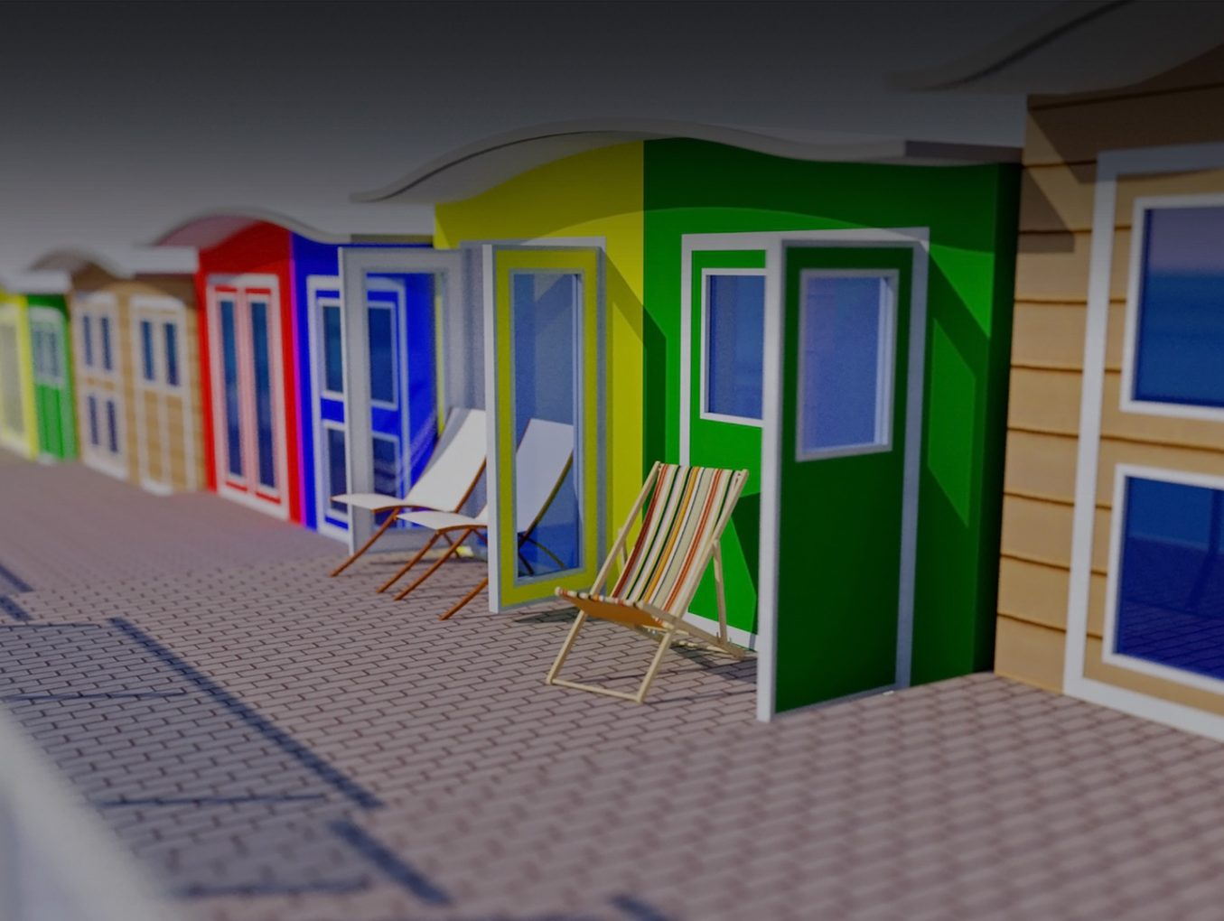 iForm modern wave roof composite beach huts_new
