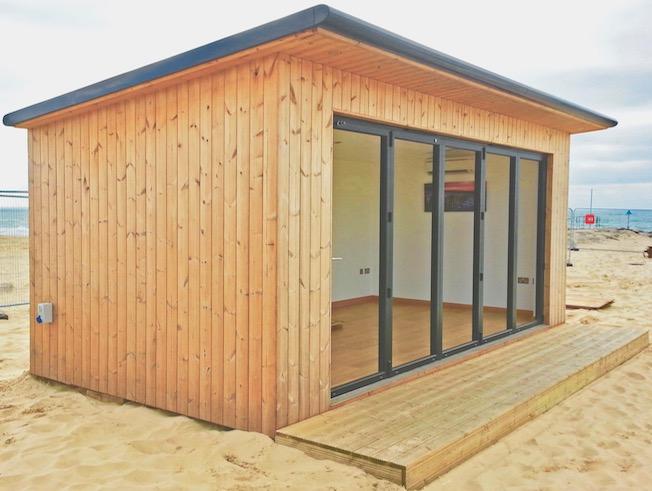 Wooden Cladded Beach Hut