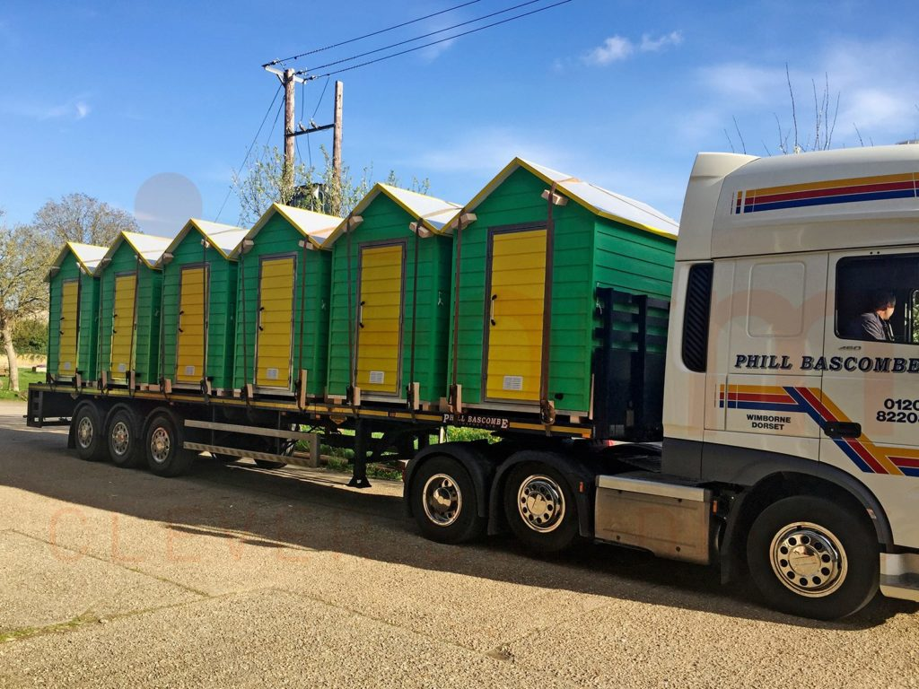 iForm Beach Huts being Transported