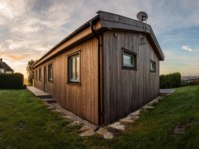 Exterior Wood Effect Fibre Clad Modular Building