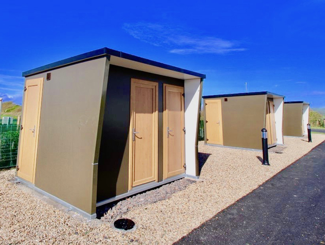 Campsite Toilet and Shower Block Building